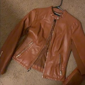 Brown Pleather Jacket